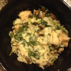Spinach, Mushroom, and Chicken Risotto for Rice Cooker recipe
