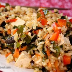 Clean Eating Wakame Brown Rice Salad With Tofu recipe
