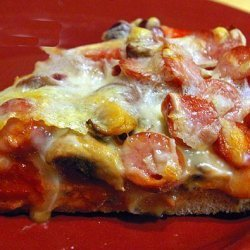 Veggie and Pepperoni Pizza recipe