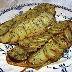 Marinated Cod Fillets W/Potato Scales recipe