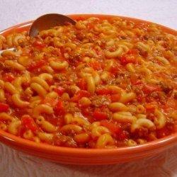 Cheesy Beef and Macaroni Goulash recipe