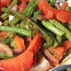 Grilled Green Bean Salad With Red Onions and Tomatoes recipe