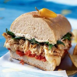 Chicken-and-brie Sandwich With Roasted Cherry Tomatoes recipe