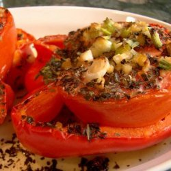 Tomato Stuffed Red Bell Peppers recipe