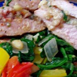 Fig, Pine Nuts and Feta Stuffed Pork Loin recipe