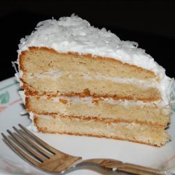 Alton Brown's Coconut Cake With 7 Minute Frosting recipe