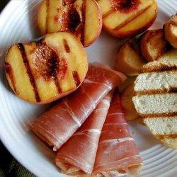Grilled Peaches With Prosciutto recipe