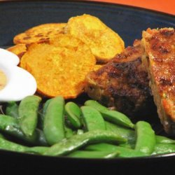 Mini Meatloaves With Baked Sweet Potato Chips recipe