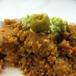 Arroz Con Pollo With Salsa Verde (Rice and Chicken Casserole) recipe