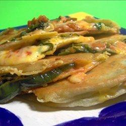 Green Chili and Monterey Jack Quesadillas recipe