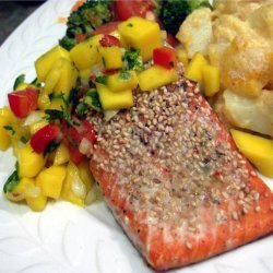 Baked Salmon With Mango Salsa recipe