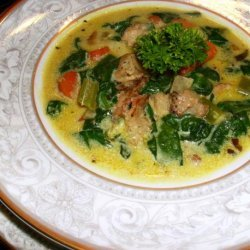 Quick and Easy Curried Turkey Soup recipe