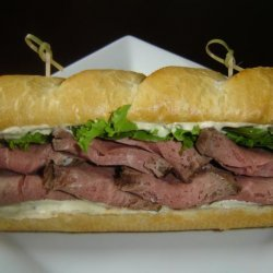 Beef and Horseradish Sauce Sandwich recipe