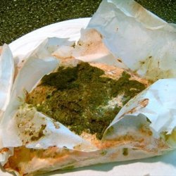 Cilantro-Butter Salmon and Vegetables in Parchment recipe