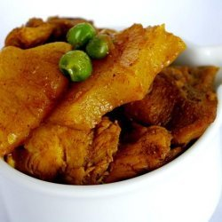 Garam Masala Curried Chicken With Pineapple and Peas recipe