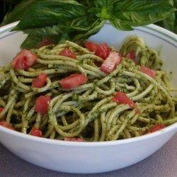 Pesto and Tomato Angel Hair Pasta recipe