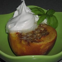 Baked Peaches Stuffed With Almonds recipe
