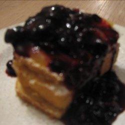 Lemon Stacks With Blueberry Sauce recipe
