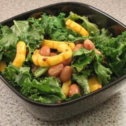 Delicata Squash Salad With Kale and Cranberry Beans recipe