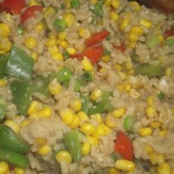 Southwestern Risotto With Corn and Roasted Red Pepper recipe