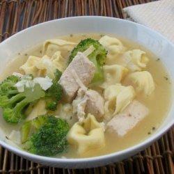 Chicken and Broccoli Tortellini Soup recipe