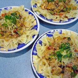 Chili Pesto Chicken Pasta recipe