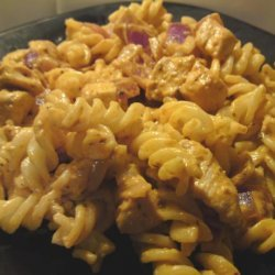 Creamy Red Pesto Chicken With Pasta recipe
