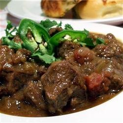 Beef, Green Chili and Tomato Stew recipe