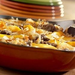 Easy Skillet Beef and Hash Browns recipe