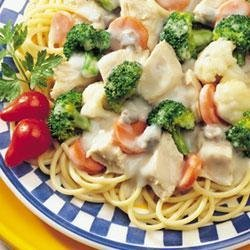 Campbell's(R) Healthy Request(R) Chicken and Pasta Primavera recipe