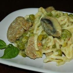 Turkey Sausage Noodles recipe