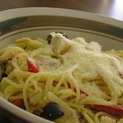 Angel Hair Pasta with Peppers and Chicken recipe