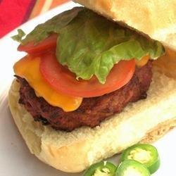 Travis's Turkey Burgers with a Bite recipe