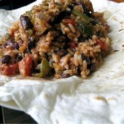 Barbeque Seitan and Black Bean Burritos recipe