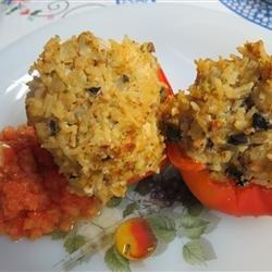 Meatless Stuffed Peppers recipe