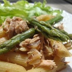 Farfalle with Asparagus and Smoked Salmon recipe