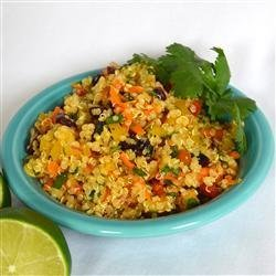 Cranberry and Cilantro Quinoa Salad recipe