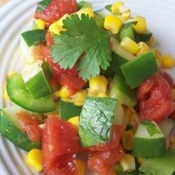 Mexican Cucumber Salad recipe