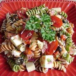 Pasta Salad with Homemade Dressing recipe