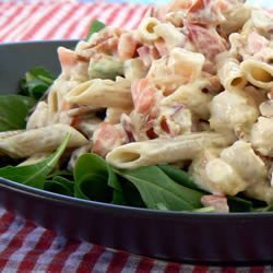 Shrimp Avocado Pasta Salad recipe