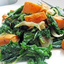 Roasted Yam and Kale Salad recipe