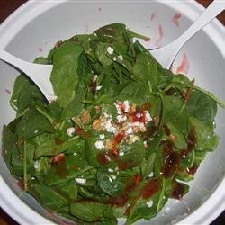 Spinach Salad with Pepper Jelly Dressing recipe