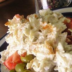 Simple Ranch Chicken Macaroni Salad recipe
