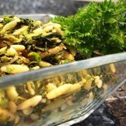 Mediterranean Orzo Spinach Salad recipe