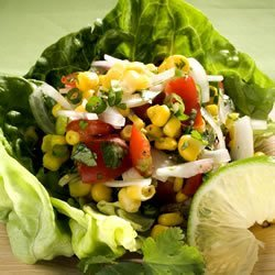 Corn, Sweet Onion, and Tomato Salad recipe
