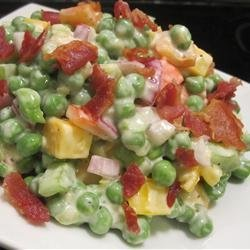 Green Pea Salad With Cheese recipe