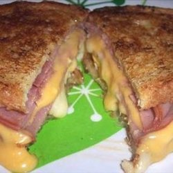 Grilled Ham, Egg and Cheese Sandwich recipe