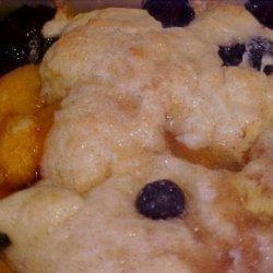 Sour Cream Fresh Blueberry Peach Cobbler recipe