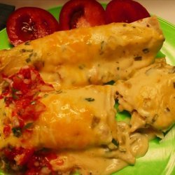 Easy Cheese and Sour Cream Enchiladas recipe