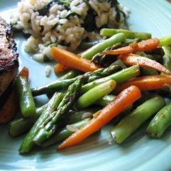 Garlic Asparagus and Green Beans recipe